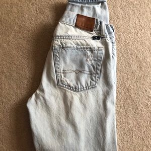 Distressed lucky brand mom jeans OBO